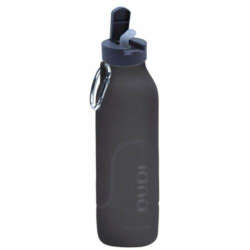 environ 992.22 g Paille Couvercle-Gunmetal Grey *** pliant eco silicone bouteille d/'eau Bubi 35 oz