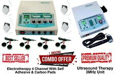 Medinza Combo 4 Channel Electrotherapy Machine With Ultrasound 3mhz Therapy Unit