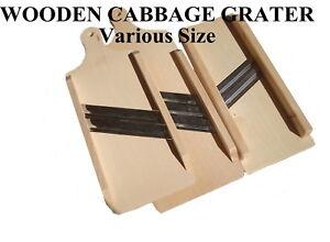 In legno piatto cavolo TRITURATORE GRATER CUTTER VERDURE SLICER GRATTUGIA TRITURATORE  </span>