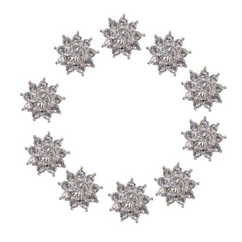 10pc Cristal Flor Diamantes De Imitación Botones Flatback Adornos Boda