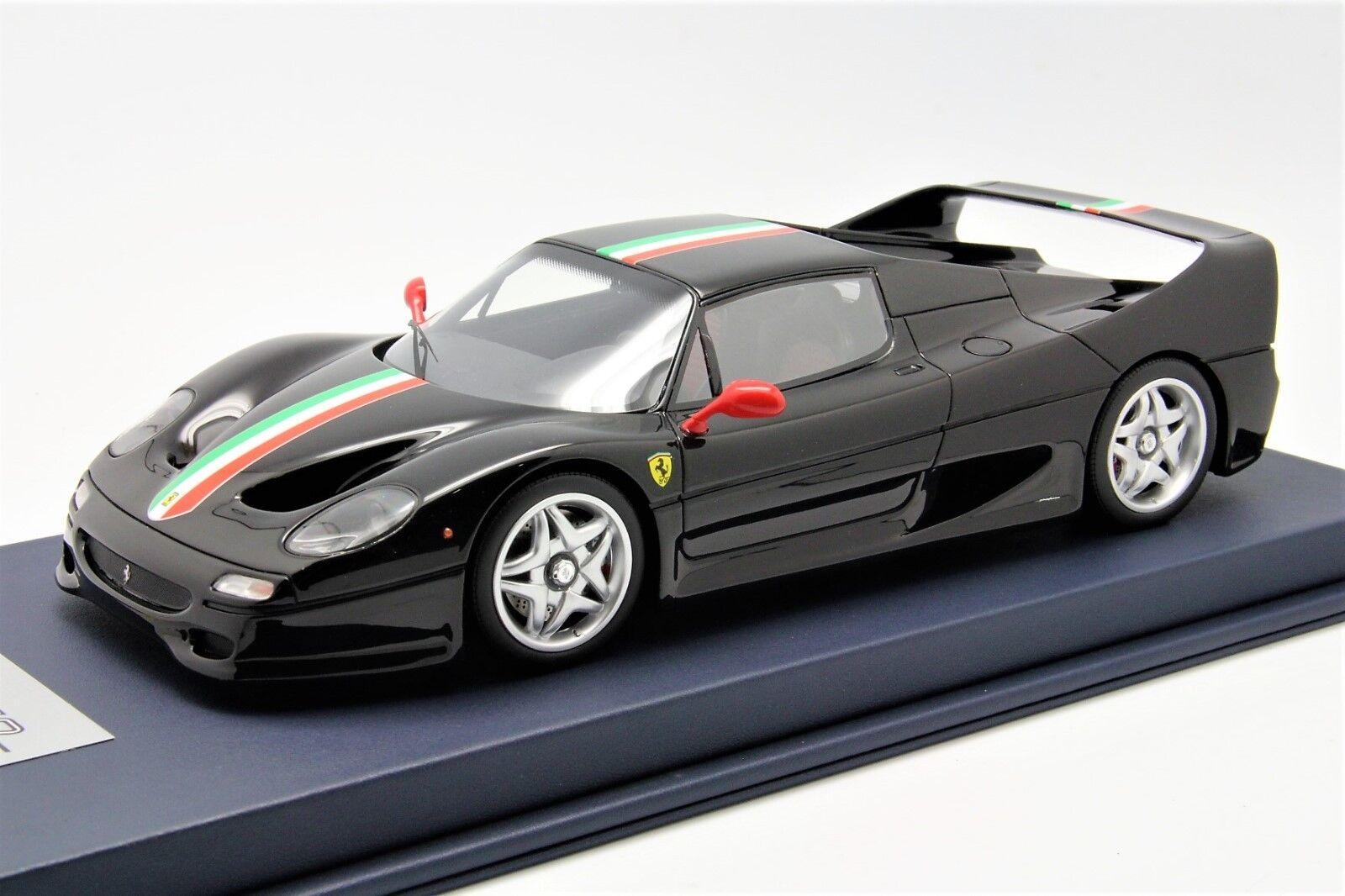 1 18 Looksmart Ferrari F50 black DS Italian Stripe Free Shipping  MR BBR