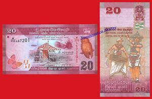 SRI-LANKA-20-Rupees-rupias-2015-Pick-123c-SC-UNC
