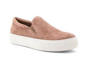 a59729ee3a5 Steve Madden Gills Mauve Suede Leather Slip-On Sneakers Platform ...