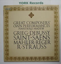 GMA 65 - GREAT COMPOSERS OWN PERFORMANCES - Music From Piano Rolls -Ex LP Record