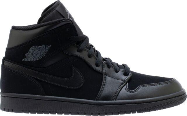 later super popular online store Air Jordan 1 Mid Black/Dark Grey-Black (554724 050)