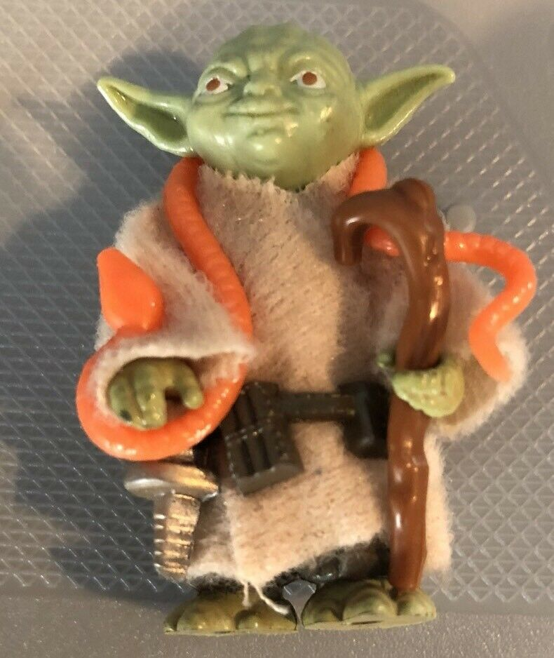 Star Wars Kenner Vintage 1980 Yoda arancia Snake Complete Light verde AFA WORTHY