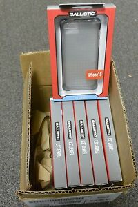 LOT-of-6X-PC-New-OEM-Ballistic-LS-Jewel-Gray-Case-For-iPhone-5-iPhone-5s-SE
