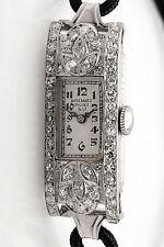 Antique 1920s AUDEMARS PIQUET 1.50ct Marquis Diamond Platinum Ladies Watch WTY