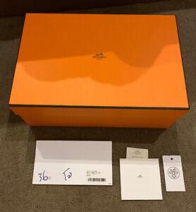 Authentic-Hermes-Paris-Empty-Box-Shoe-Box-Gift-Storage-31-21-11cm-Cards