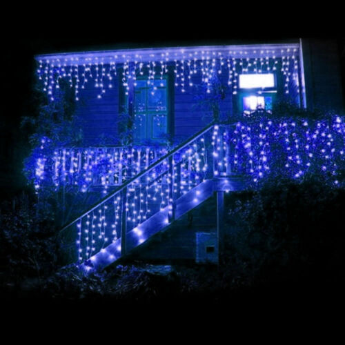 10-100M LED Mains Plug In String Fairy Lights 8Function Garden Xmas Tree Outdoor