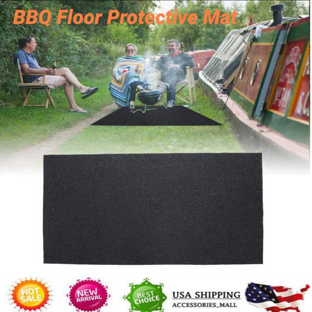 Ats Under Grill Mat Bbq Grilling Mat Outdoor Portable Backyard Large Floor Mats For Sale Online Ebay