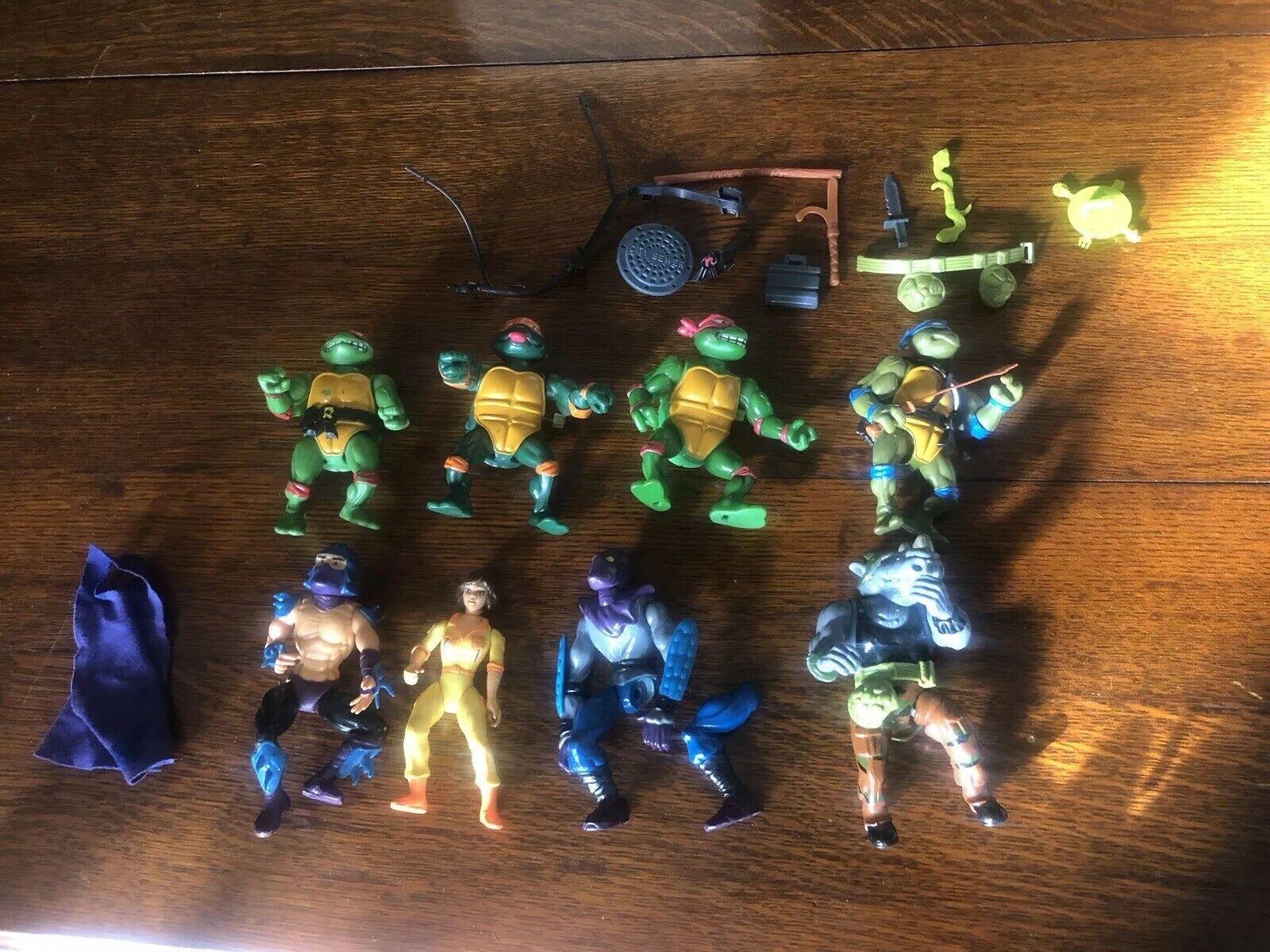 Bundle teenage mutant ninja turtles Action figures Vintage Vintage Rocksteady Shredder