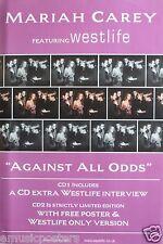 "MARIAH CAREY/WESTLIFE ""AGAINST ALL ODDS"" U.K. POSTER-Many shots of Mariah & Band"