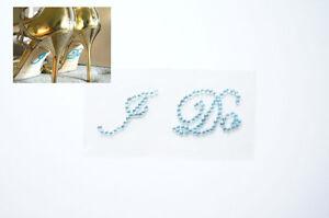 I DO Light Blue Shoe Stickers Wedding Bride Shoe Sticker Bridal Accessory Bling