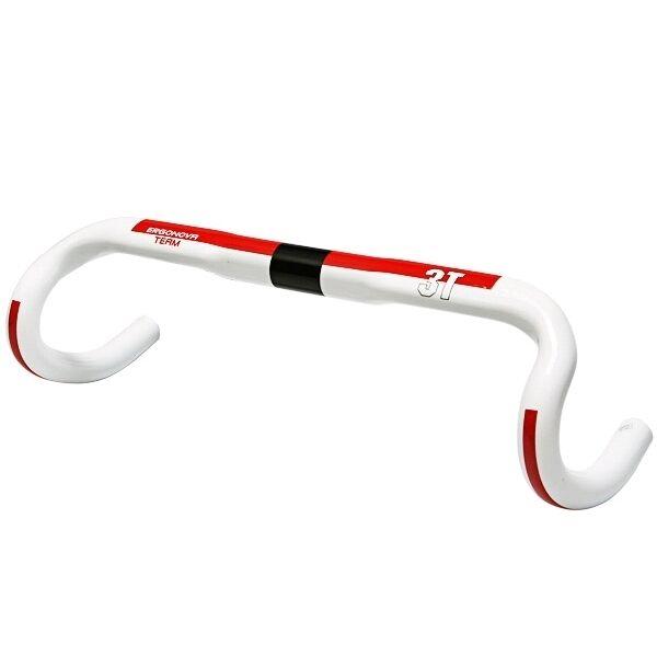 3T Ergonova Team Carbon 38cm Handlebar Red White