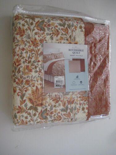 "home classics REVERSIBLE QUILT TWIN 65/"" X 88/"" SARAH//Warm Floral Multi $99.99"