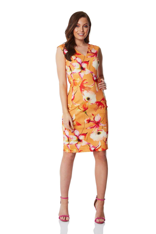 Roman Originals damen Floral Print Bodycon Pencil Dress - Ladies