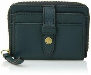 Card Wallet Champagne Leather Size RRP £45 Fossil Fiona Zip Close Coin Purse