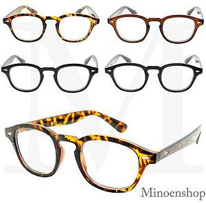 6b203fdd0a Classic Oval Frame Clear Lens Glasses Mens Celebrity Style Depp VTG ...