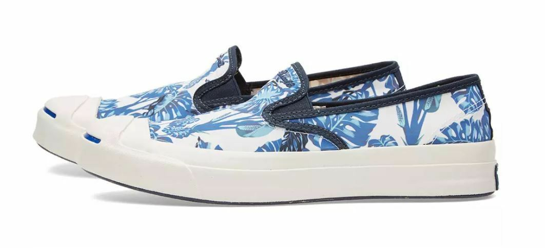 Converse Jack Purcell firma Tropicale Slip Scarpe Da Ginnastica Scarpe Da Ginnastica Misura