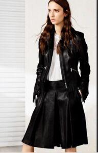 c9e2dd3b47def Image is loading Karen-Millen-Black-Fringe-Tassel-Leather-Jacket-8-