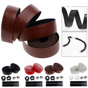 1 Paar Tape Bar Griff Fahrrad Leder Lenker Anti-Rutsch-atmungsaktive Bandage