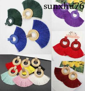 Women-Boho-Dangle-Fashion-Earrings-Bohemian-Geometric-Fringe-Long-Tassel-Jewelry