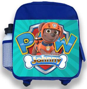 Personalised Kids Backpack Any Name Paw Patrol World Boys Childrens School Bag 2