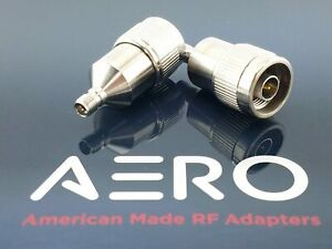 Aero 18 GHz High Performance 3.5mm Female to Type N Male RF Adapter Made in USA