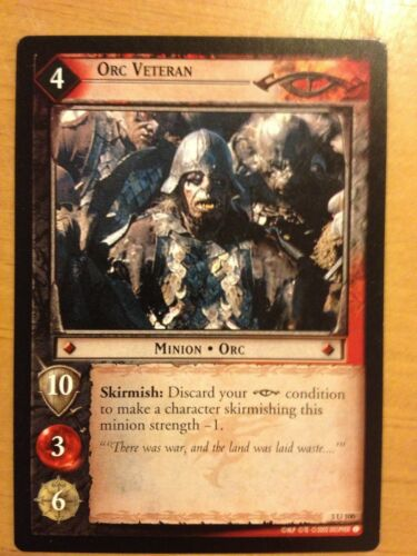 Lord of the Rings CCG Realms Elf-Lords 3U100 Orc Veteran X2 LOTR TCG