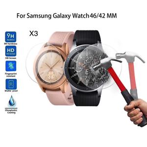 Lot-de-3-Vitre-Verre-Trempe-Film-Protection-ecran-Glass-Galaxy-Smart-Watch-46-42