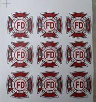 Ceramic Decals With Fire Department Logo Emblem
