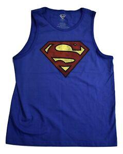 D-C-Comics-Juniors-Superman-Tank-Top-Shirt-New-L