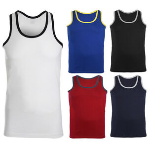 Mens-Sleevless-Chaleco-Sin-Mangas-Musculo-Gimnasio-Culturismo-Stinger-Tanque-Fitness-Tops