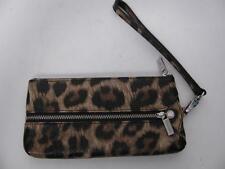 Item 1 Danier Leather Leopard Cat Print Wristlet Hand Wallet Evening Party Pouch Purse