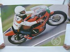 Original 1975 1976 Harley Davidson Race Poster Walter Villa World Champion 250cc