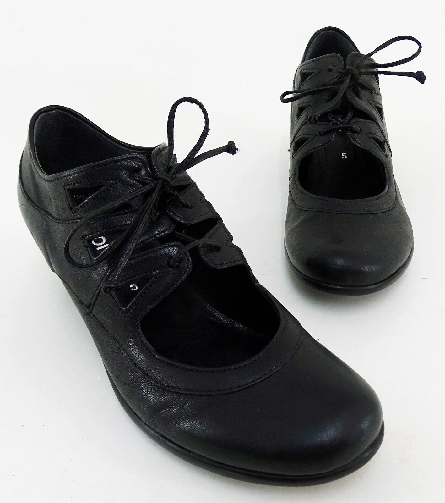 Salón gabor zapato bajo tacón Echt Leder negro Gr. 5 = 38