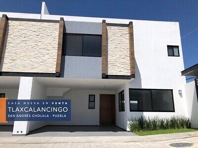 CASA NUEVA EN VENTA EN TLAXCALANCINGO, CHOLULA, PUEBLA. 1 CUADRA DE BL  ATLIXCO.