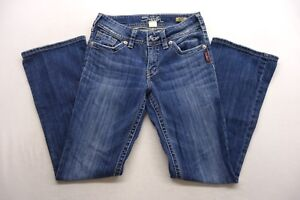Wash Bootcut Denim Cotton Womens Jeans New Silver Med 26 Blue Sz 30 Suki X 608qXw