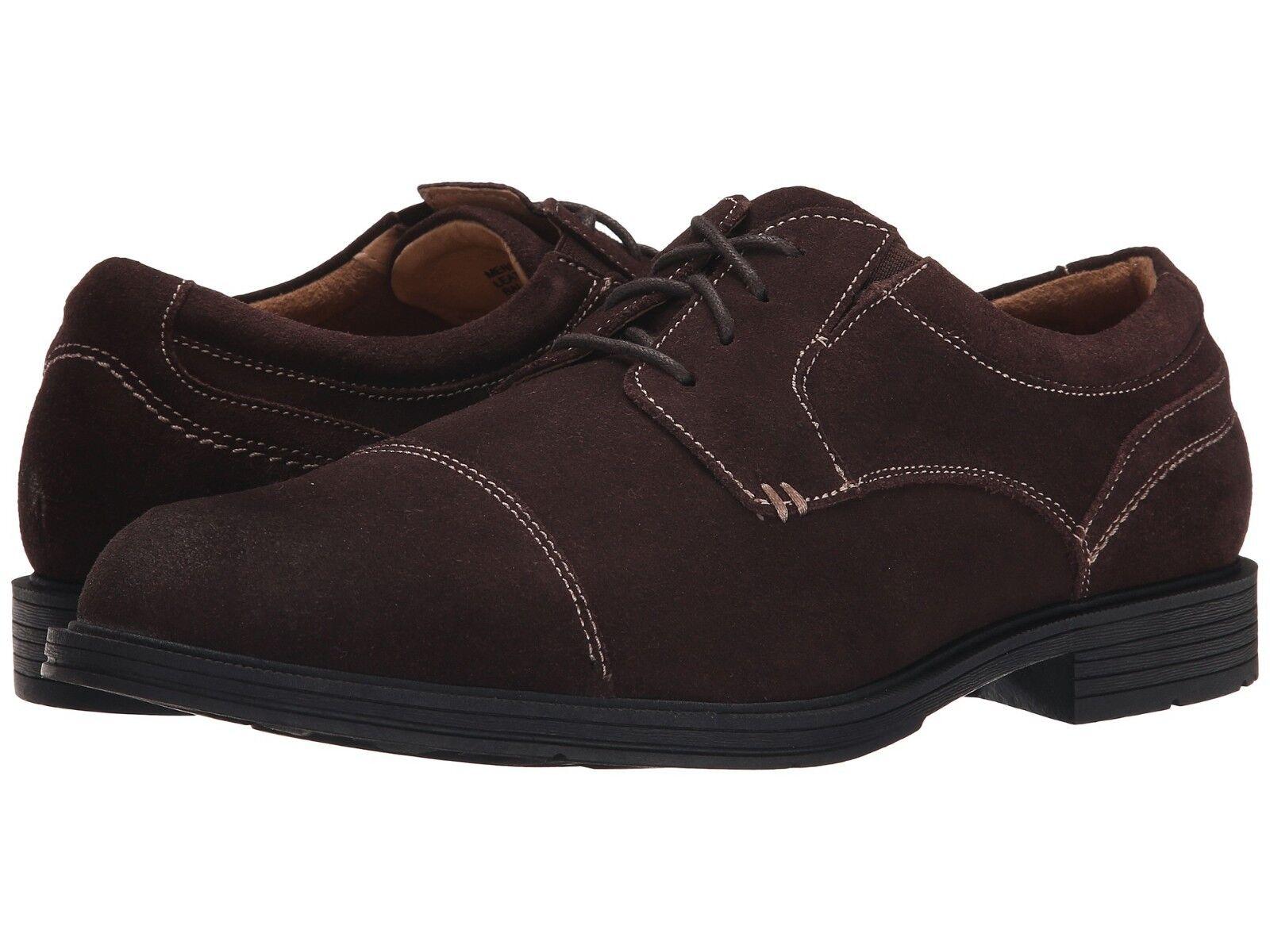 New Florsheim Mogul Cap Toe Oxford Suede Men Shoes Size 8.5