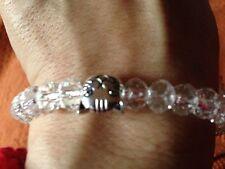 NUOVO Crystal Bead braccialetto chiaro con gatto Perlina charm