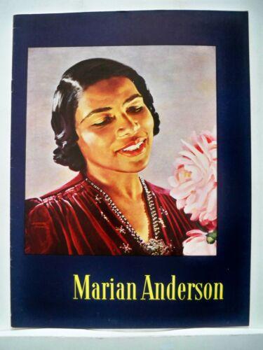 MARIAN ANDERSON Concert Souvenir Program S HUROK 1952-1953