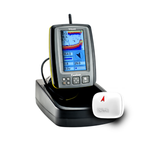 Buscador De Peces Cebo Barco GPS y en un kit de batería TF640 + Trípode y la pena