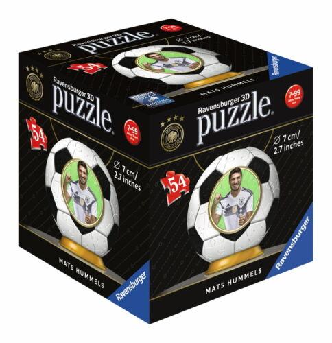 54 Teile Ravensburger 3D Puzzle Ball WM 2018 Mats Hummels 11928 3D Puzzles