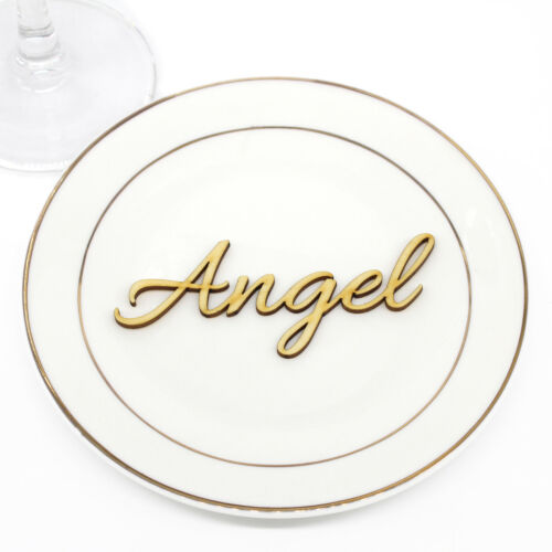 Personalized Wooden Laser Cut Name Place Name Setting Wedding Table Centerpieces