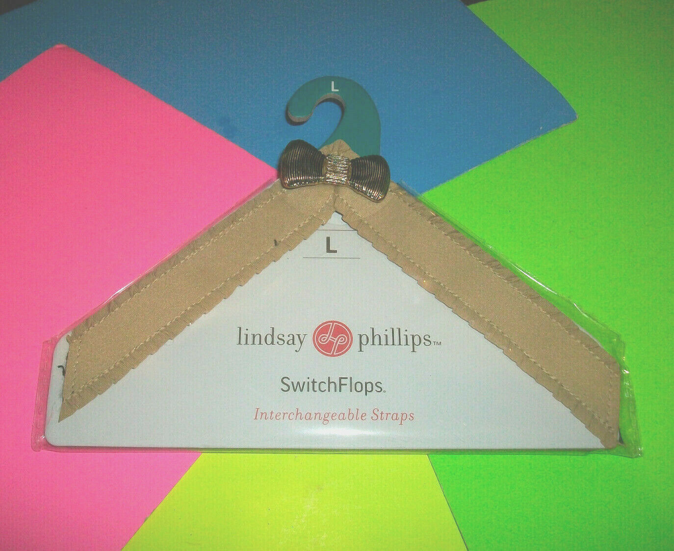 ⭐NEW⭐ LINDSAY PHILLIPS ROSALIND SWITCHFLOPS INTERCHANGEABLE STRAP STRP024 SIZE L