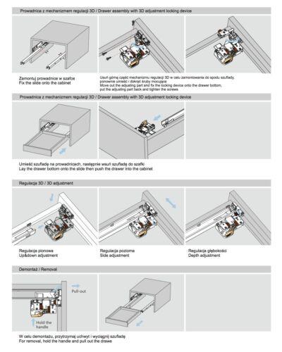 Schubkastenschiene Schubladenschiene Teleskopschiene Schubkastenführung