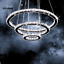 Modern-LED-Crystal-Round-Ring-Chandelier-Pendant-Lamp-Ceiling-Lights-Adjustable miniature 6