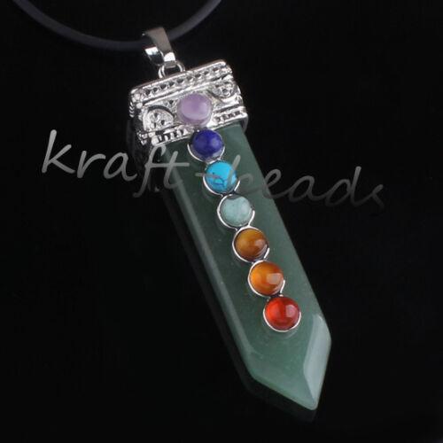 Silver Plated Natural Amethyst Gemstone Sword Chakra Healing Pendant Jewelry