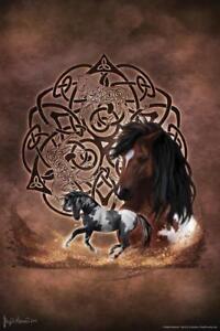 Celtic-Horse-by-Brigid-Ashwood-Art-Print-Poster-24x36-inch